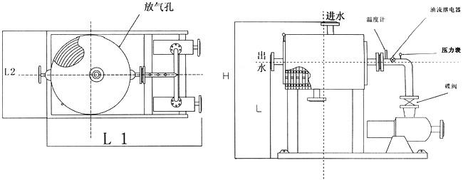 式强油水冷却器外型图